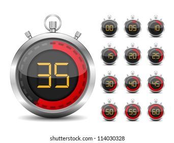 Digital timer, vector eps10 illustration