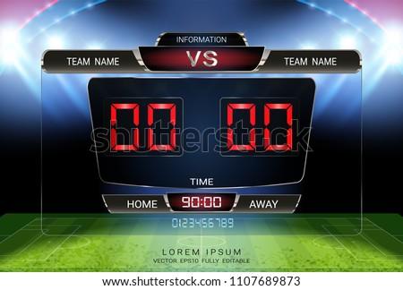 Digital timing scoreboard Football