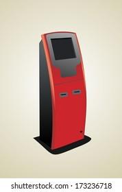 Digital touch screen terminal.