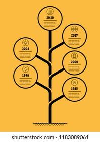 Digital Tree. Design concept for technological business.