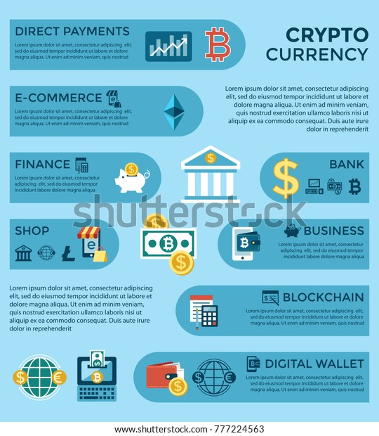 Digital Vector Bitcoin Cryptocurrency Electronic Money Stock