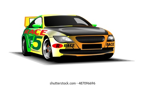 COLOURFUL SCALEXTRIC RACING SPORTS CARS SPECIAL SON BIRTHDAY GREETING CARD
