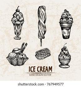 Ice Cream Sketch Images Stock Photos Vectors Shutterstock