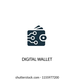 digital wallet creative icon. Simple element illustration. digital wallet concept symbol design from Digital economy collection. Can be used for web and mobile.