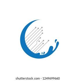 digital wave, logo icon