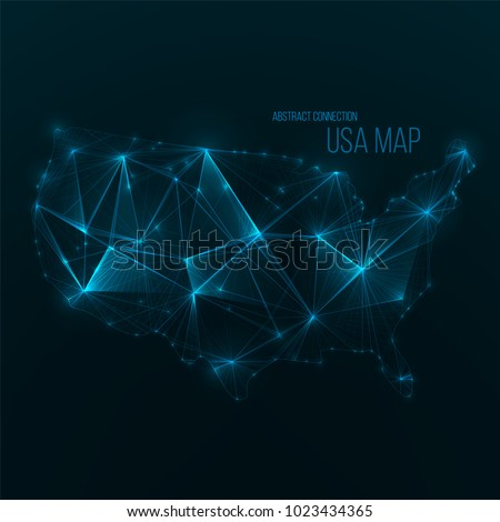 digital web map usa global network stock vector royalty free