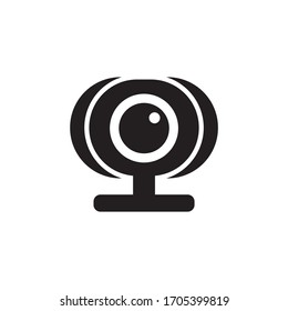 Digital webcam icon design isolated on white background