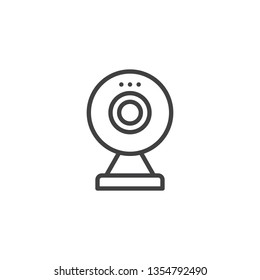 Digital Webcam line icon. linear style sign for mobile concept and web design. webcam video call outline vector icon. Symbol, logo illustration. Pixel perfect vector graphics