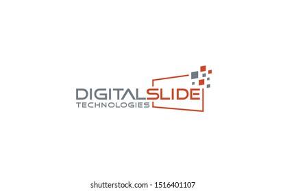 Digital Word mark logo with orange color