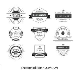 Digitally generated Black premium quality advertisement badges