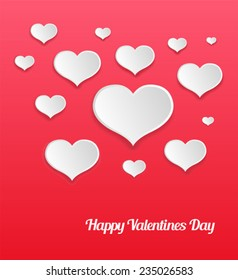Digitally generated Happy valentines day vector with heart pattern