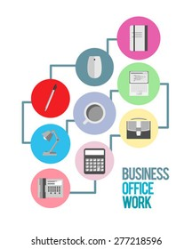 Digitally generated office supplies and business vector