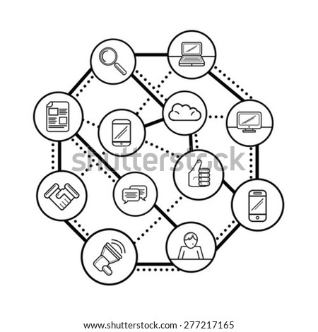 Digitally Generated Social Networking Concept Vector Stock Vector