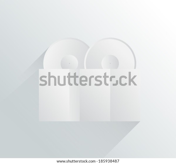 Digitally generated white and grey locks in simple design
