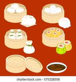 Dim Sum cartoon set