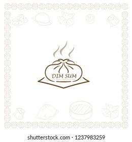dim sum chinese restaurant food logo symbol graphic