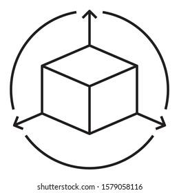 Dimension Sign Concept Vector Icon design
