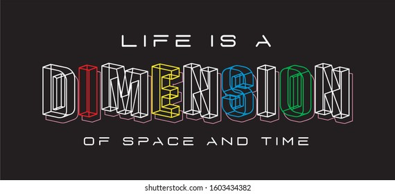 dimension typography for print t shirt
