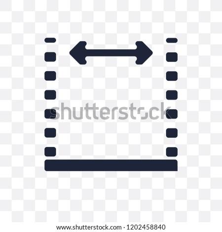 Dimensions Transparent Icon Dimensions Symbol Design Stock Vector