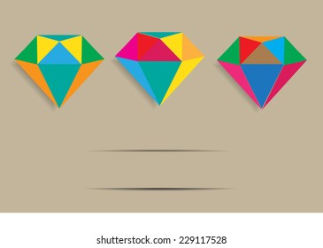dimond background and concept for success
