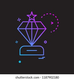 dimond icon vector design