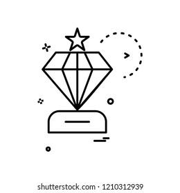 dimond icon vector design