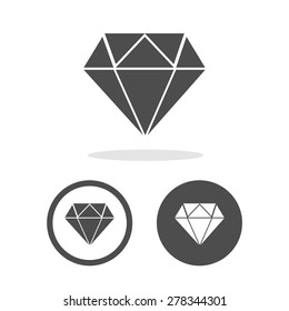 Dimond icons set great for any use. Vector EPS10.