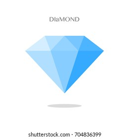 Dimond on white background, vector isolated object