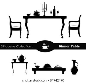 Dining room Vector Illustration