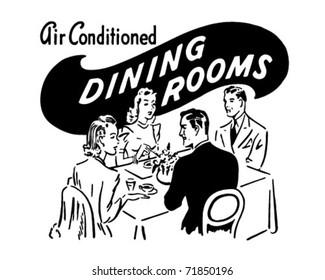 Dining Rooms - Retro Ad Art Banner