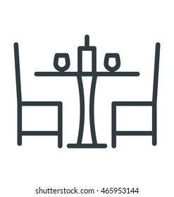 Dining Table Vector Icon