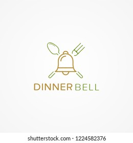 Dinner Bell Classic Logo Vector Template