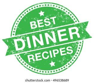Dinner Recipes stamp