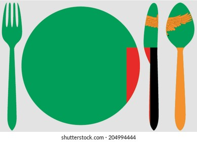 Dinnerware with the flag of