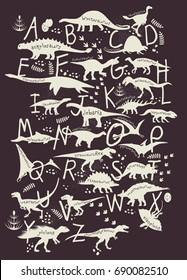 Dino Alphabet. ABC Dinosaurs.