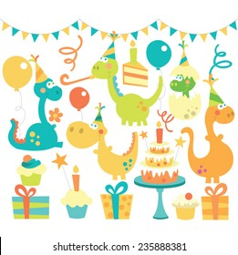 Dino birthday set