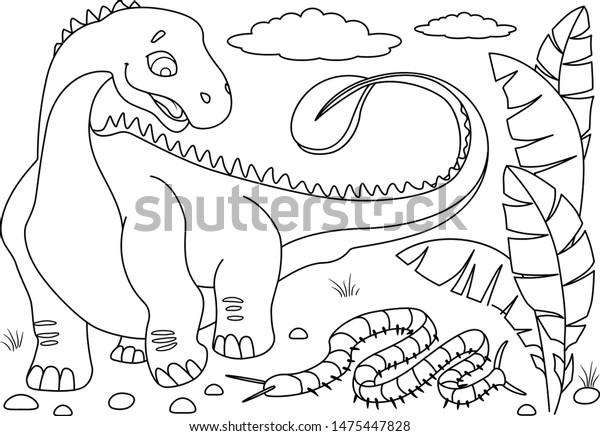 Dinosaurs free to color for kids : Tyrannosaur Rex Cartoon ... | 436x600