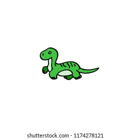 Dino vector cartoons, funny characters, cute characters,green