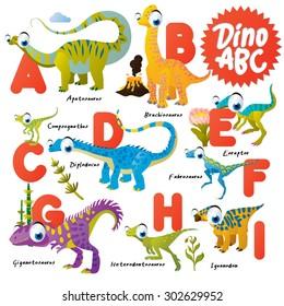 Dinosaur ABC, A to I