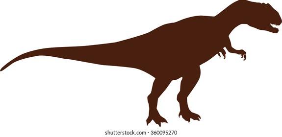 Dinosaur allosaurus silhouette