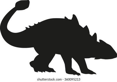 Dinosaur ankylosaurus silhouette