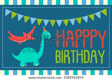 dinosaur birthday invitation stock vector royalty free 1089942854