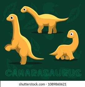 Dinosaur Camarasaurus Cartoon Vector Illustration