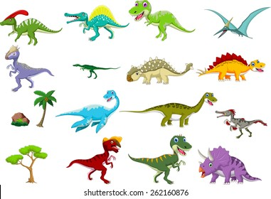 dinosaur cartoon set