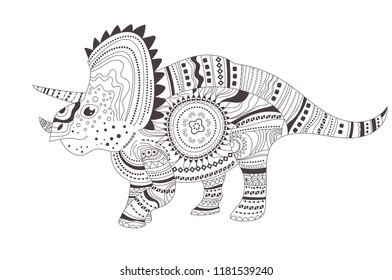 dinosaur coloring page vector cartoon 260nw