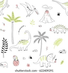 dinosaur decorative modern graphic pattern