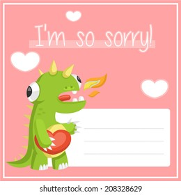 dinosaur dragon in love asks forgiveness