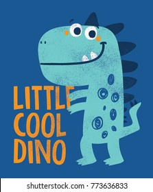 dinosaur drawing as vector for kids fashion