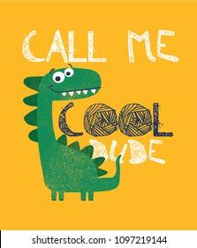 dinosaur drawn as vector for print