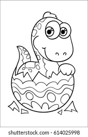 Dinosaur Easter Egg Coloring Happy Easter Stock Vector (Royalty Free ...